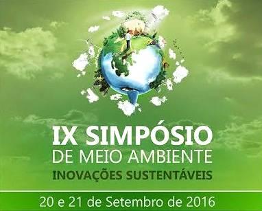 IX Simpósio de Meio Ambiente - Inovações Sustentáveis